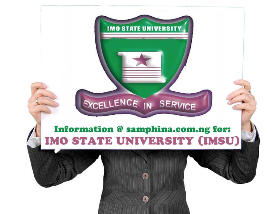 2019 Admission List for Imo State University, Owerri (IMSU)