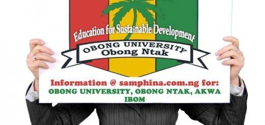 Obong University Obong Ntak Akwa Ibom