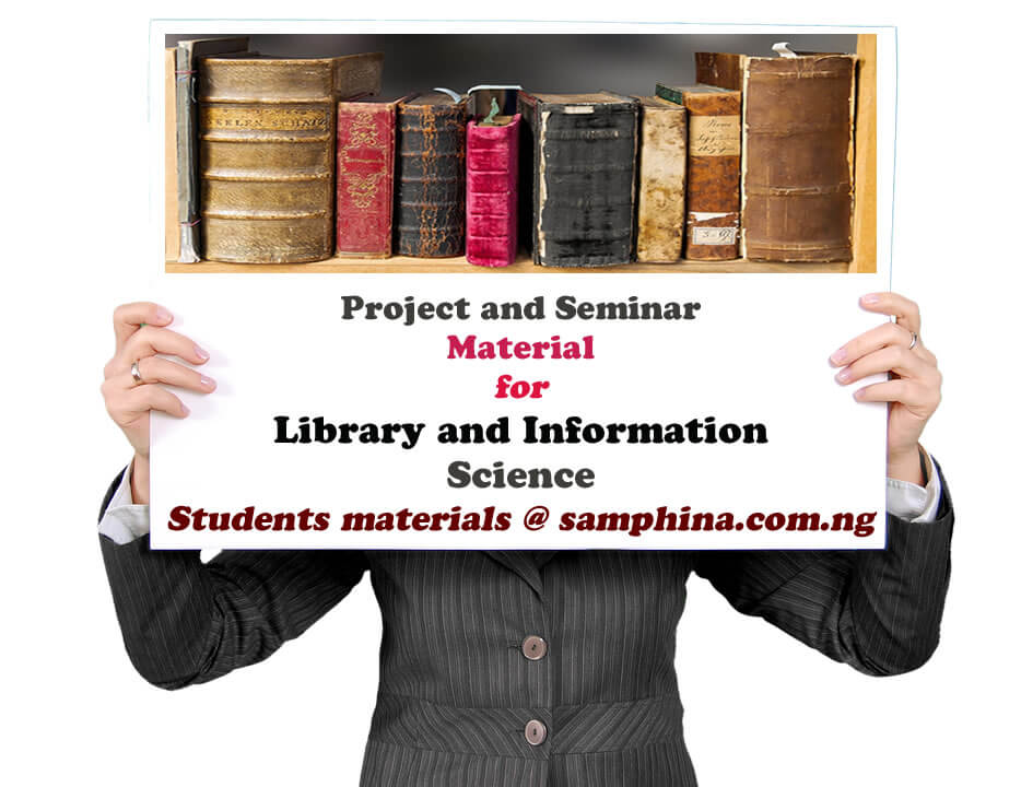Project and Seminar Material for Library and Information Science