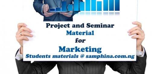 Project and Seminar Material for Marketing