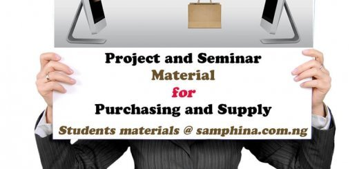 Project and Seminar Material for Purchasing and Supply PS