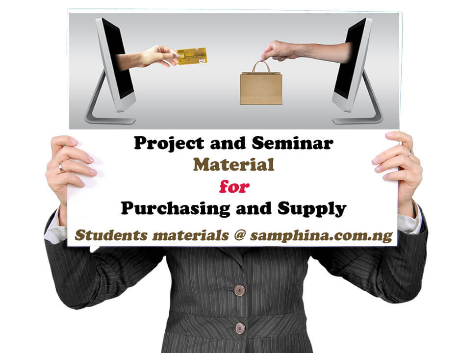 Project and Seminar Material for Purchasing and Supply (PS)
