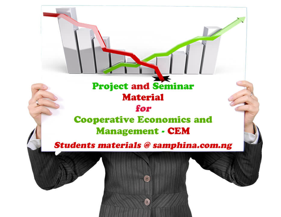 Project and Seminar Material for Cooperative Economics and Management CEM