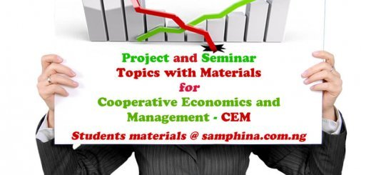 Project and Seminar Topics with Materials for Cooperative Economics and Management CEM