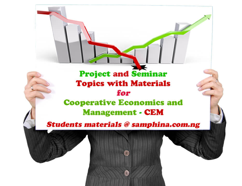 Project and Seminar Topics with Materials for Cooperative Economics and Management (CEM)