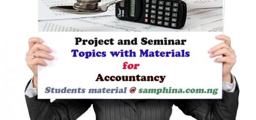 Project and Seminar Topics with materials for Accountancy 1
