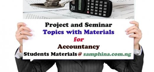 Project and Seminar Topics with materials for Accountacy AC