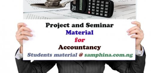 Project and Seminar material for Accountancy