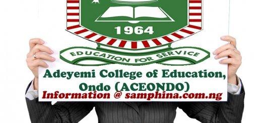 Adeyemi College of Education Ondo ACEONDO