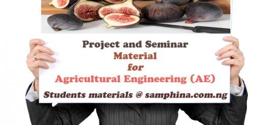 Project and Seminar Material for Agricultural Engineering AE