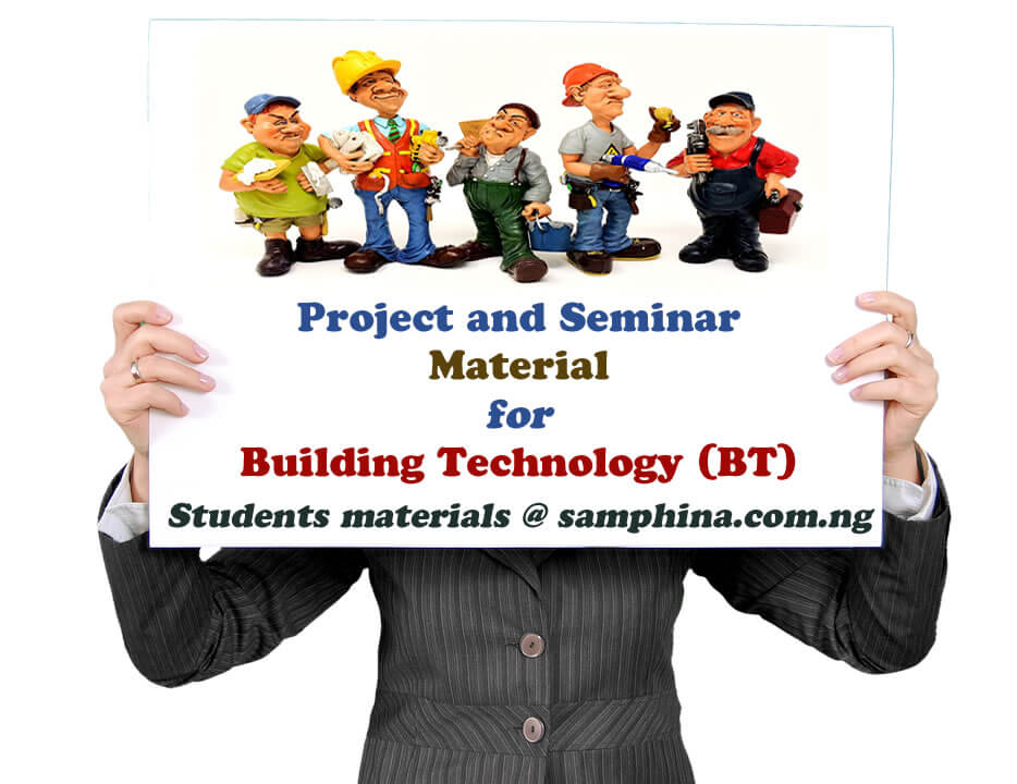 Project and Seminar Material for Building Technology BT