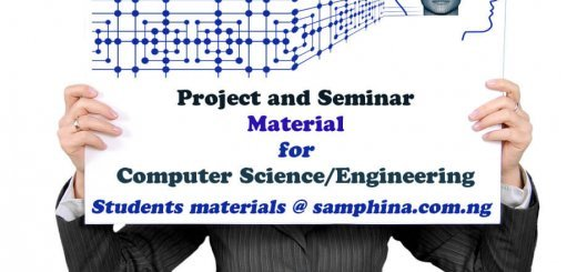 Project and Seminar Material for Computer Science and Computer Engineering