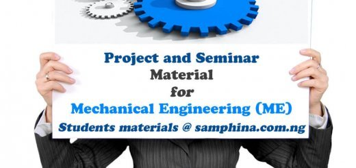 Project and Seminar Material for Mechanical Engineering ME