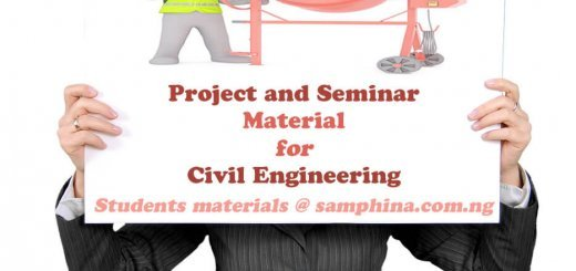 Project and Seminar Materials for Civil Engineering CE