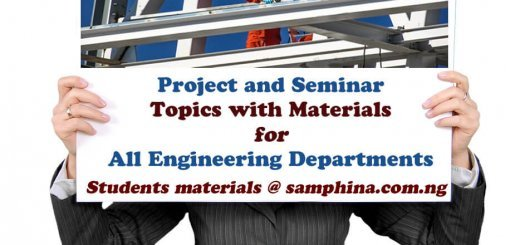 Project and Seminar Topics with Materials for Engineering