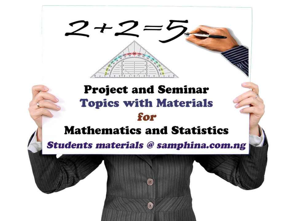 Project and Seminar Topics with Materials for Mathematics and Statistics
