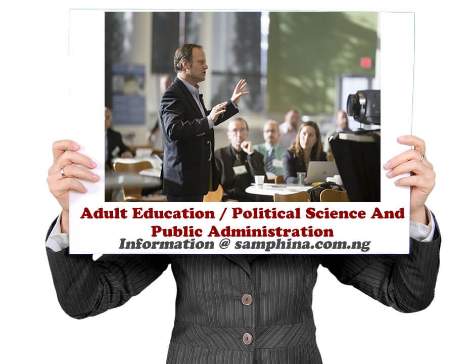 Adult Education Political Science And Public Administration