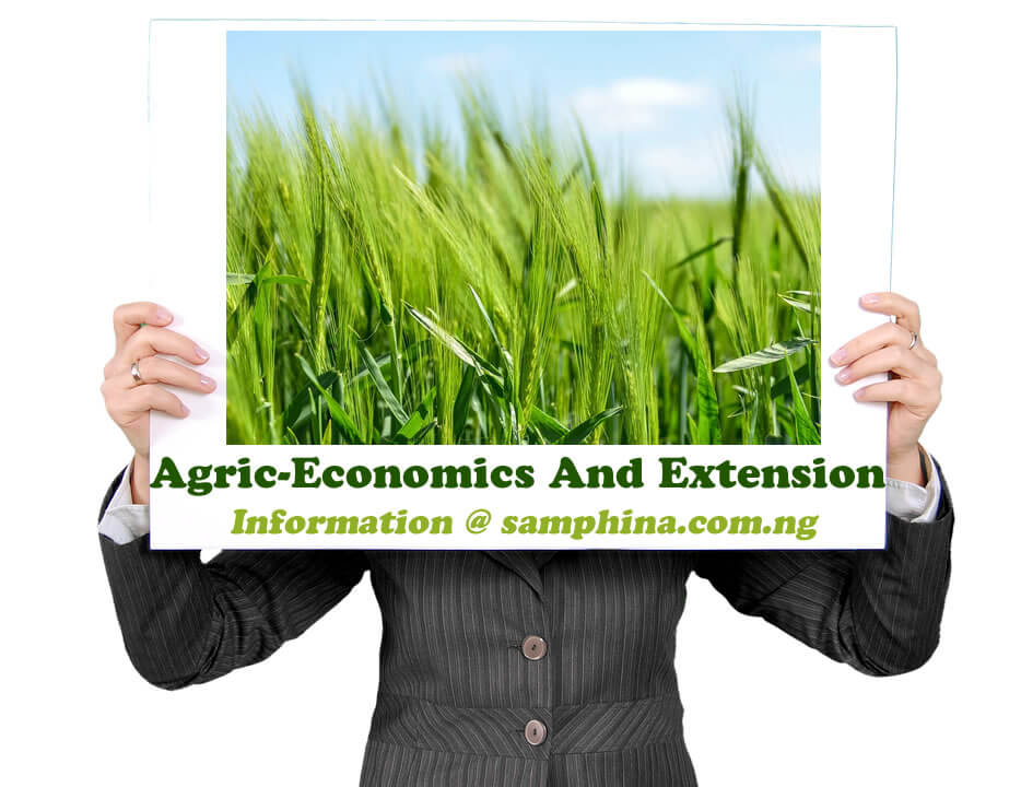 Agric Economics And Extension