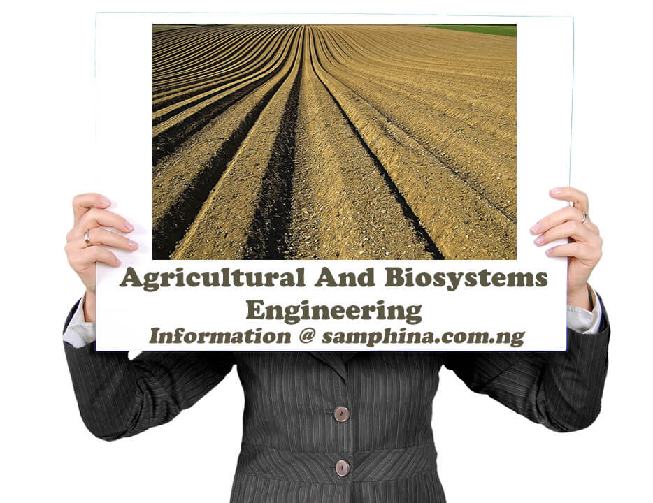 Agricultural And Biosystems Engineering