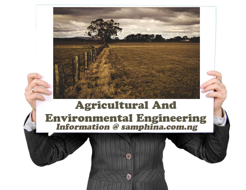 Agricultural And Environmental Engineering