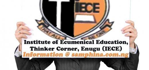 Institute of Ecumenical Education Thinker Corner Enugu IECE