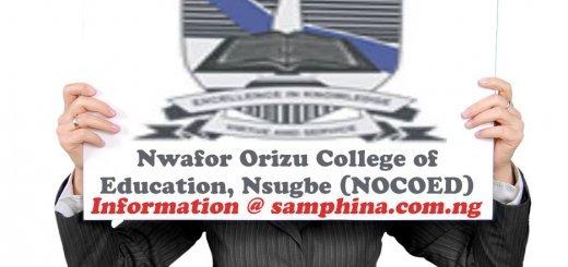 Nwafor Orizu College of Education Nsugbe NOCOED