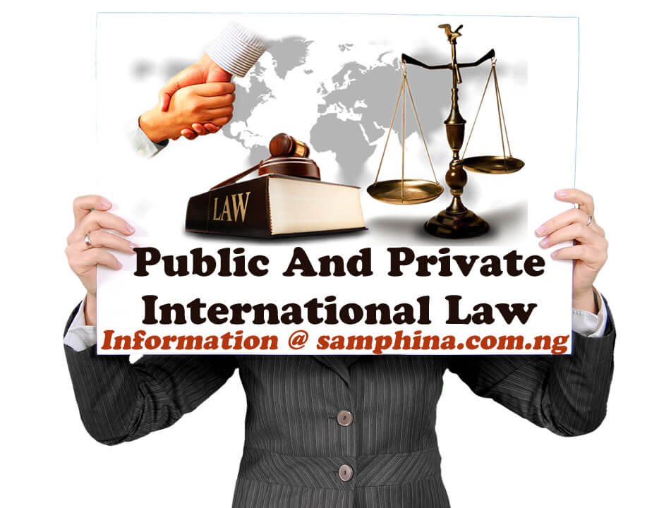 Public And Private International Law