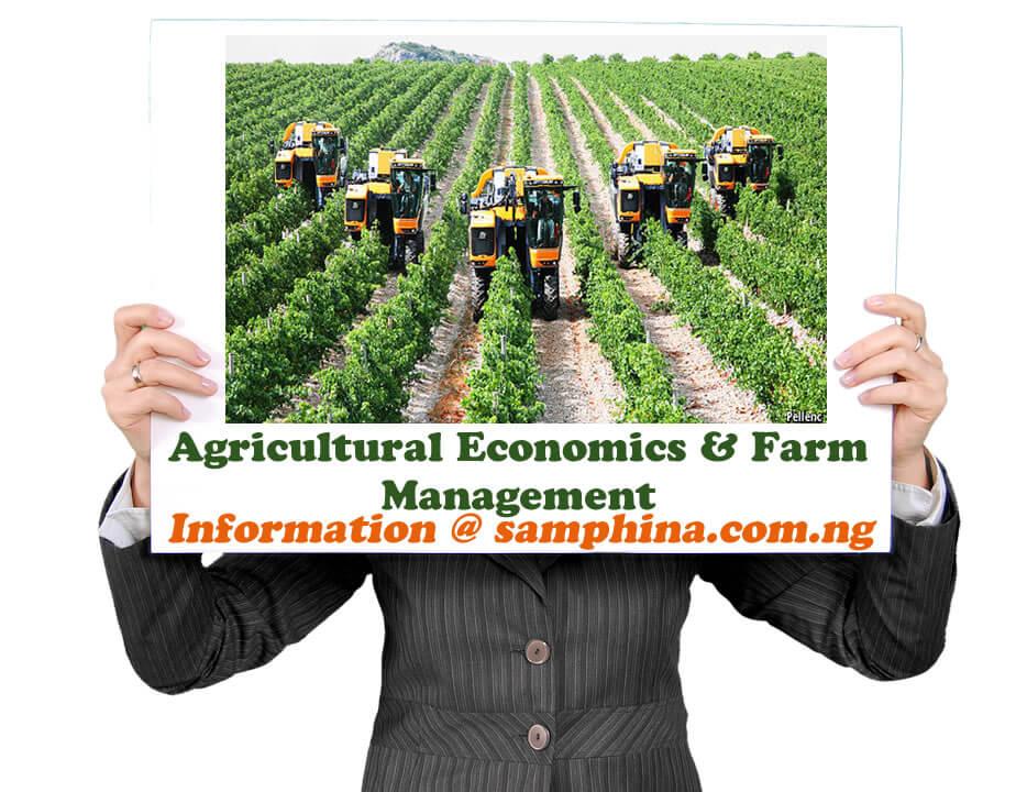 Agricultural Economics Farm Management