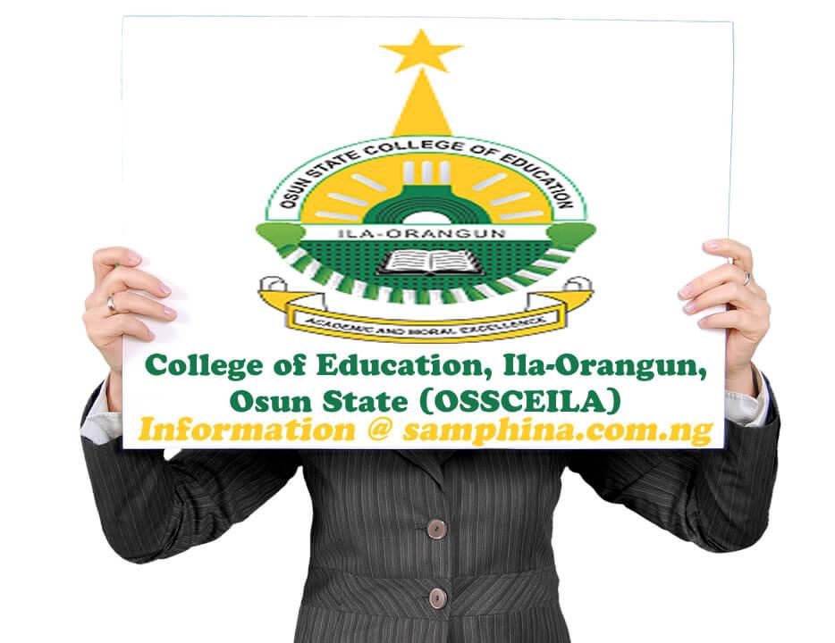 College of Education Ila Orangun Osun State OSSCEILA