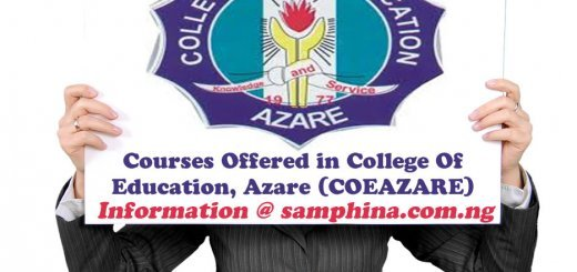 Courses Offered in College Of Education Azare COEAZARE