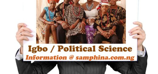 Igbo and Political Science