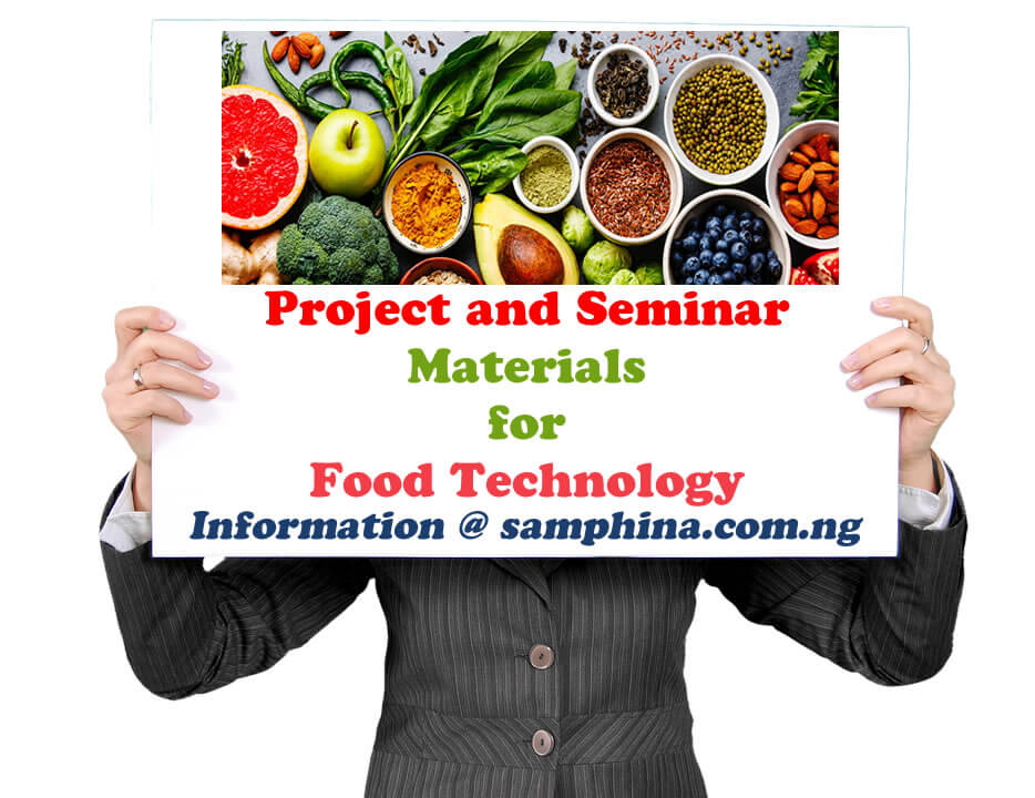 Project and Seminar Materials for Food Technology