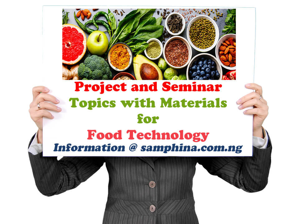 Project and Seminar Materials for students of Food Technology