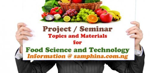 Project and Seminar Topics with Materials for Food Science and Technology (FST)