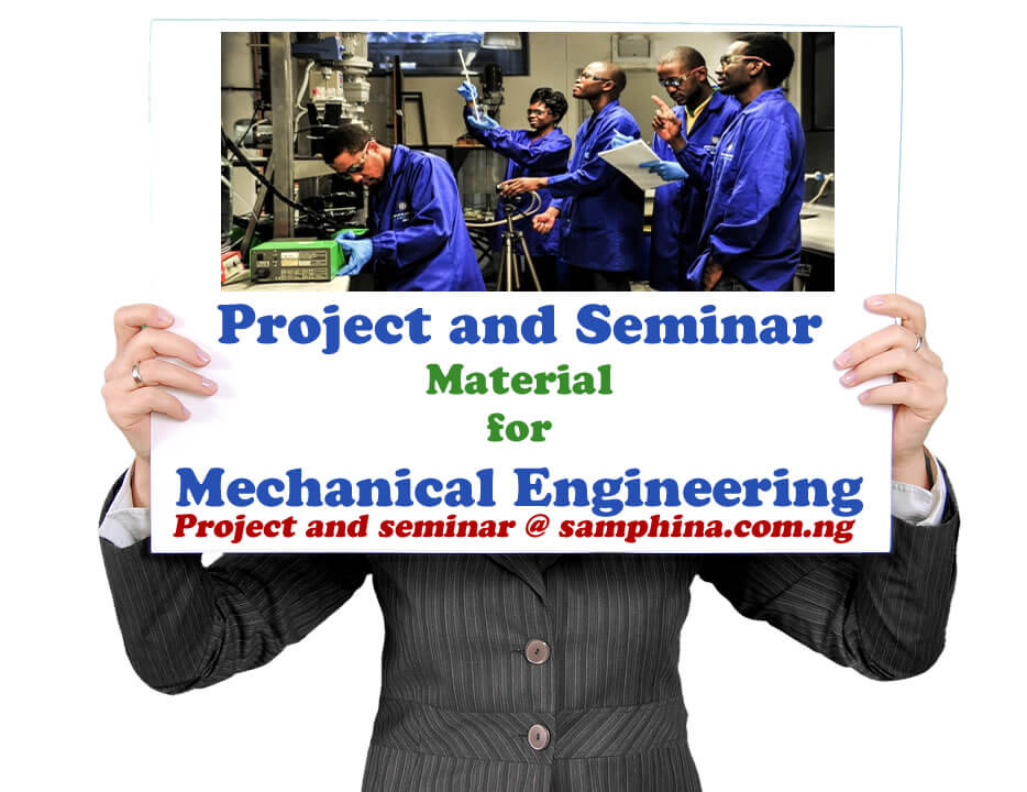 Project and Seminar Material for Mechanical Engineering
