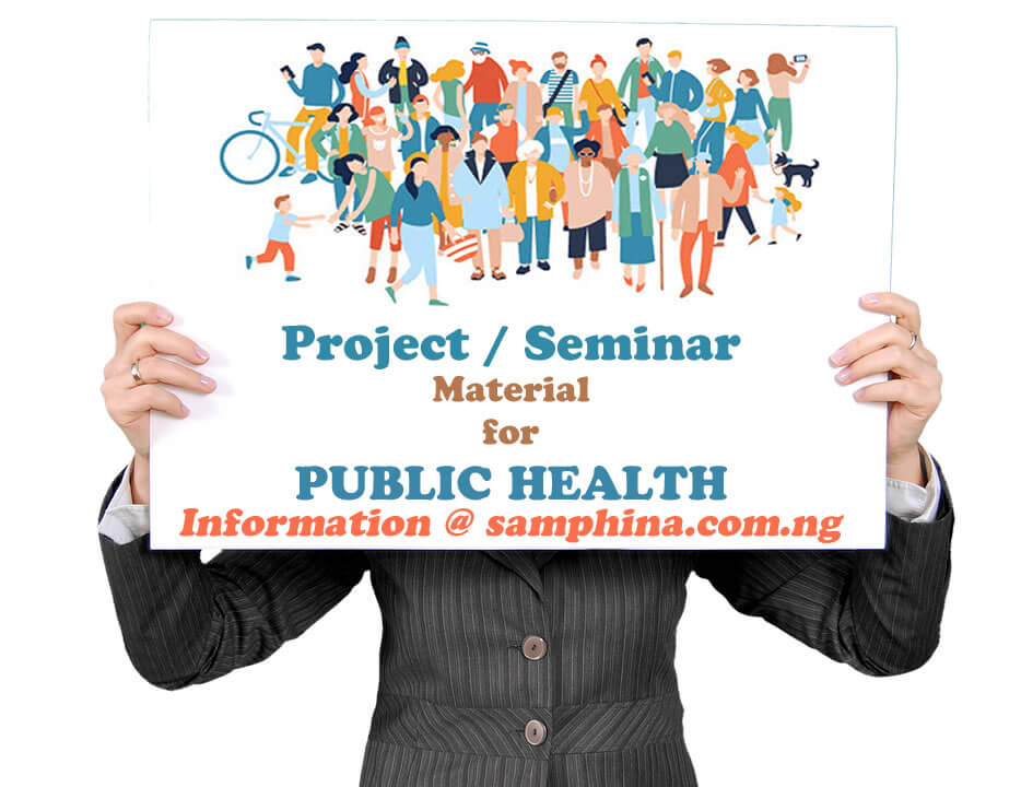 Project and Seminar Material for Public Health