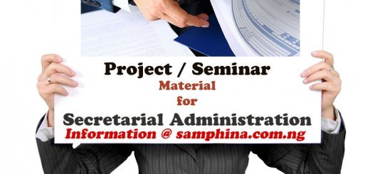 Project and Seminar Material for Secretarial Administration