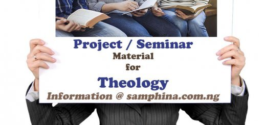 Project and Seminar Material for Theology