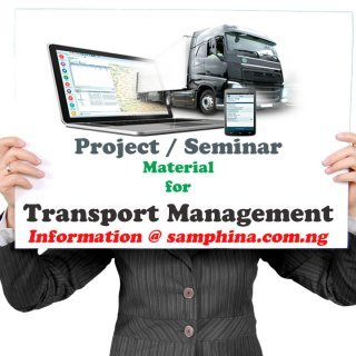 Project and Seminar Material for Transport Management Technology