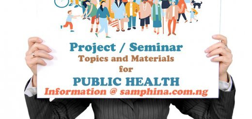 Project and Seminar Topics with Materials for Public Health