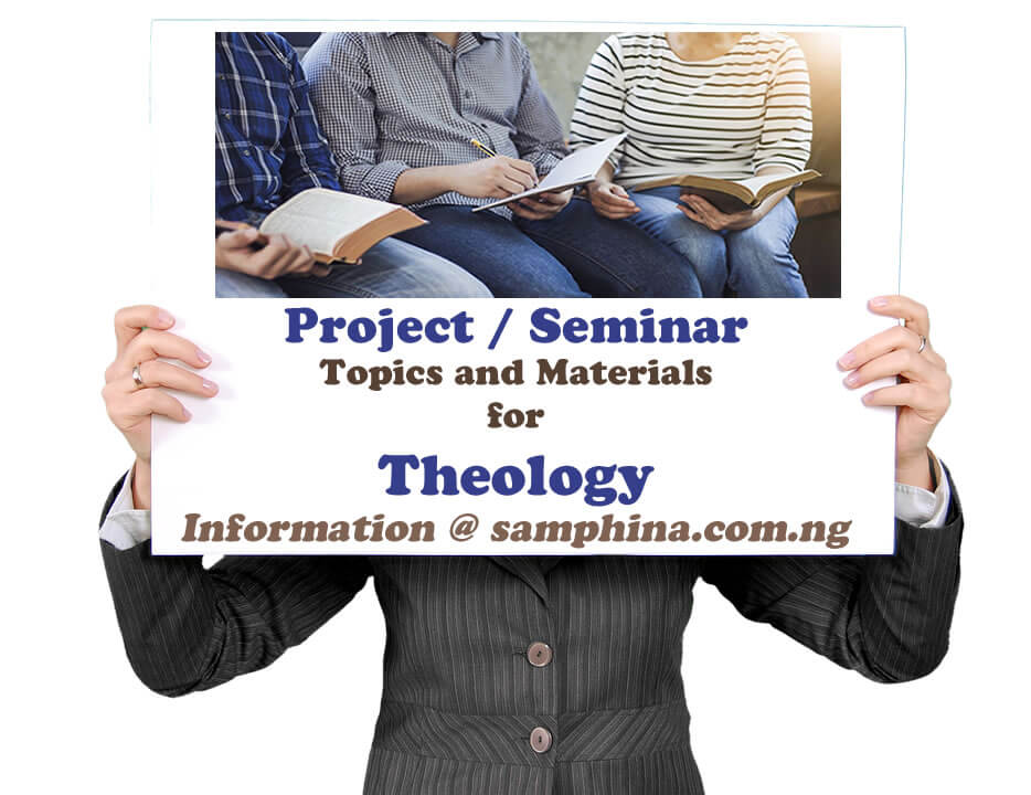 Project and Seminar Topics with Materials for Theology