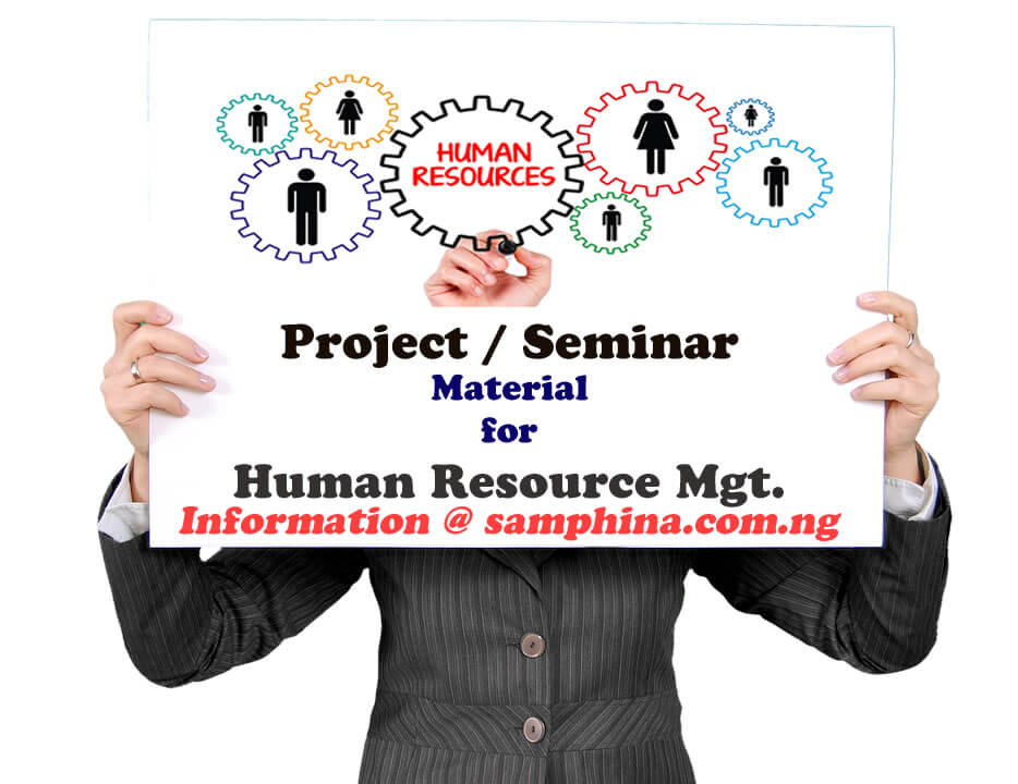 Project and Seminar Material for Human Resource Management (HRM)