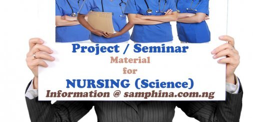 Project and Seminar Material for Nursing (Science)