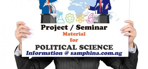 Project and Seminar Material for Political Science