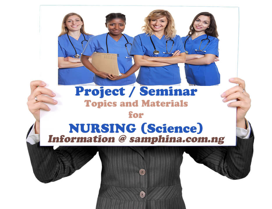 Project and Seminar Topics with Materials for Nursing (Science)