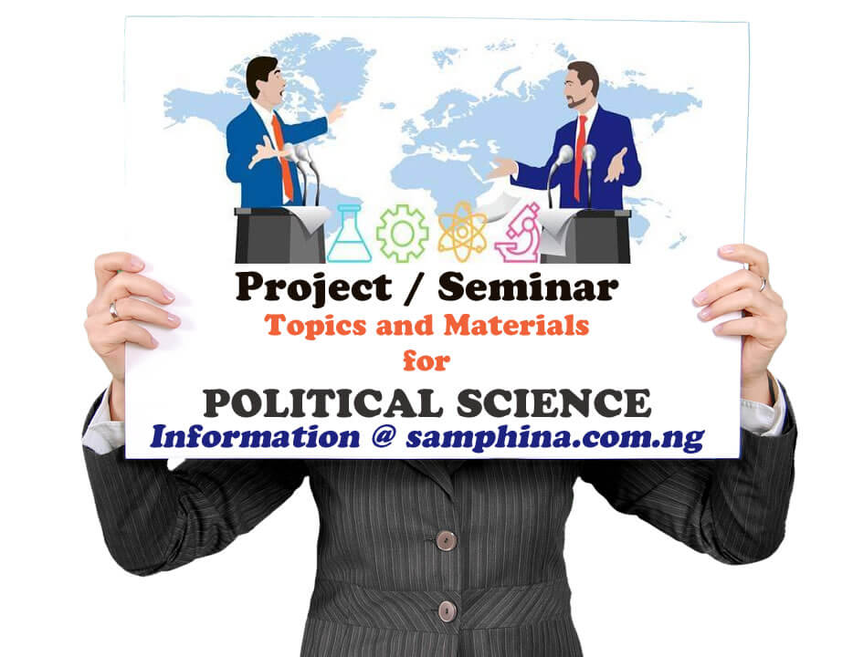 Project and Seminar Topics with Materials for Political Science