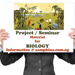 Project and Seminar Material for Biology