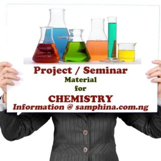 Project and Seminar Material for Chemistry