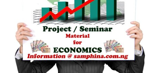 Project and Seminar Material for Economics