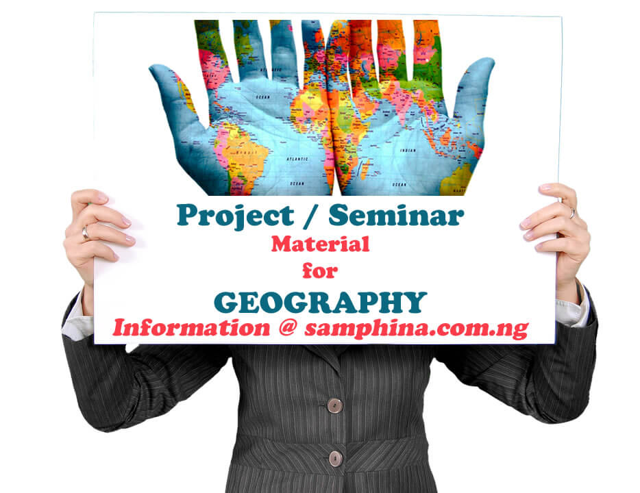 Project and Seminar Material for Geography